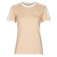 Textil Mulher T-Shirt mangas curtas adidas Originals 3 STRIPES TEE Laranja