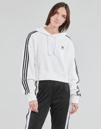 Textil Mulher Sweats adidas Originals SHORT HOODIE Branco