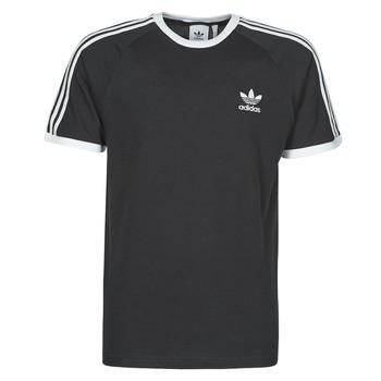Textil Homem T-Shirt mangas curtas adidas Originals 3-STRIPES TEE Preto