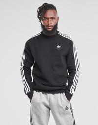 Textil Homem Sweats adidas Originals 3-STRIPES CREW Preto
