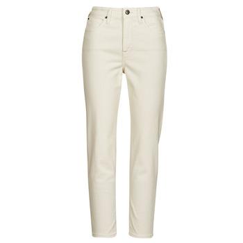 Textil Mulher Calças Jeans Lee CAROL Cru