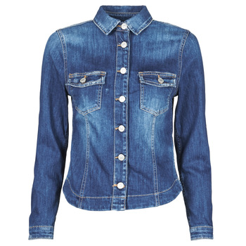 Textil Mulher casacos de ganga Le Temps des Cerises LILLY Azul