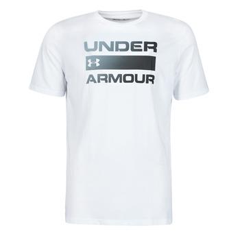 Textil Homem T-Shirt mangas curtas Under Armour UA TEAM ISSUE WORDMARK SS Branco