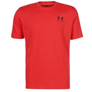 Textil Homem T-Shirt mangas curtas Under Armour UA SPORTSTYLE LC SS Vermelho