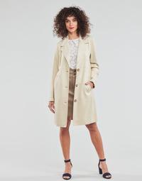 Textil Mulher Casacos Esprit SUEDE COAT Bege