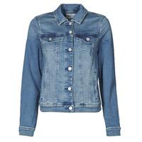 Textil Mulher casacos de ganga Esprit JOGGER JACKET Azul