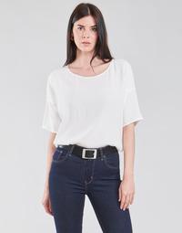 Textil Mulher Tops / Blusas Esprit COL V LUREX Branco