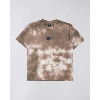 Textil Homem T-Shirt mangas curtas Edwin T-shirt  Synergy marron/blanc