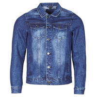 Textil Homem casacos de ganga Yurban OPSI Azul