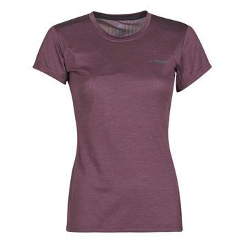 Textil Mulher T-Shirt mangas curtas adidas Performance W Tivid Tee Violeta