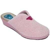 Sapatos Mulher Chinelos Cbp - Conbuenpie Zapato de mujer de piel con cuña by PEPE MENARGUES (TUPIE) Rose