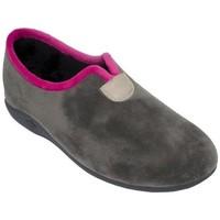 Sapatos Mulher Chinelos Cbp - Conbuenpie Zapato de mujer de piel con cuña by PEPE MENARGUES (TUPIE) Gris
