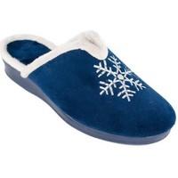 Sapatos Mulher Chinelos Cbp - Conbuenpie Zapato de mujer de piel con cuña by PEPE MENARGUES (TUPIE) Bleu