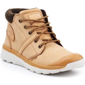 Sapatos Homem Sapatilhas de cano-alto Palladium Manufacture Pallaville HI Cuff L Cor bege