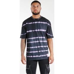 Textil Homem T-shirts e Pólos Sixth June T-shirt  Tie & Dye noir/violet