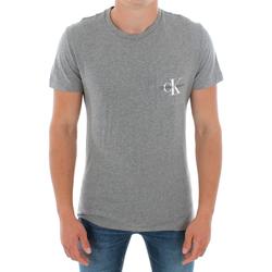 Textil Homem T-Shirt mangas curtas Calvin Klein Jeans J30J311023 039 LIGHT GREY MELANGE Gris