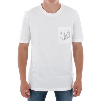 Textil Homem T-Shirt mangas curtas Calvin Klein Jeans J30J309612 112 OFF WHITE Blanco