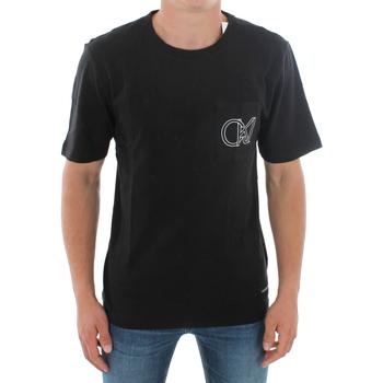 Textil Homem T-Shirt mangas curtas Calvin Klein Jeans J30J309612 099 BLACK Negro