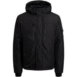 Textil Rapaz Parkas Jack & Jones 12174334 JJFERGUS JACKET JR BLACK Negro