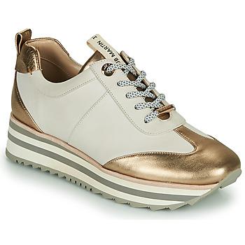 Sapatos Rapariga Sapatilhas JB Martin 4CANDIO Branco / cinza / turquesa / Ouro