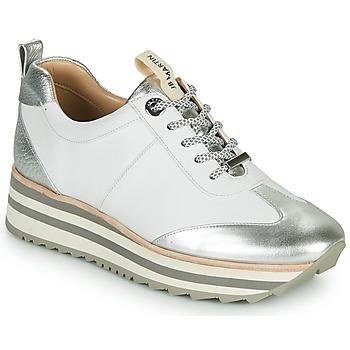 Sapatos Rapariga Sapatilhas JB Martin 4CANDIO Prata / Branco