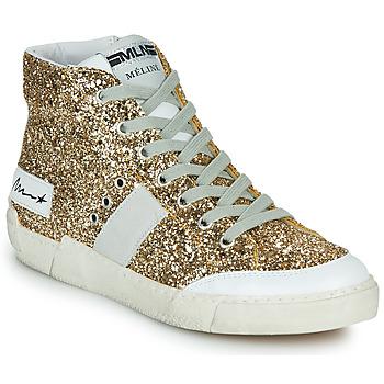 Sapatos Mulher Sapatilhas de cano-alto Meline NKC1369 Ouro