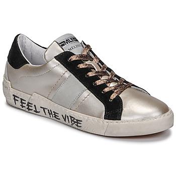 Sapatos Mulher Sapatilhas Meline NK1382 Bronze / Preto