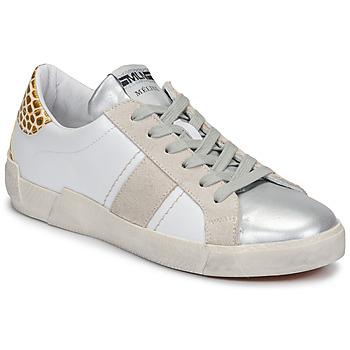 Sapatos Mulher Sapatilhas Meline NK1381 Branco / Bege