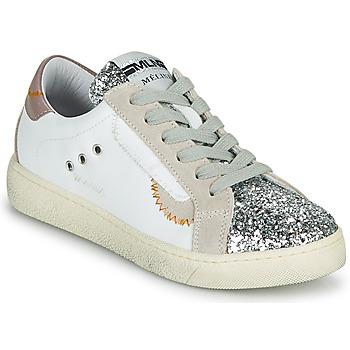 Sapatos Mulher Sapatilhas Meline CAR139 Branco / Glitter
