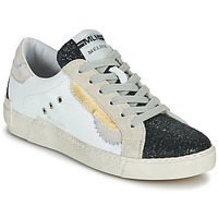Sapatos Mulher Sapatilhas Meline NKC139 Branco / Glitter / Preto