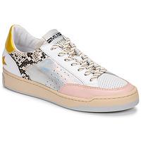 Sapatos Mulher Sapatilhas Meline BZ180 Branco / Rosa