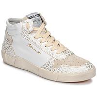 Sapatos Mulher Sapatilhas de cano-alto Meline NK1409 Branco / Crocodilo