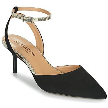 Sapatos Mulher Sandálias JB Martin TWISTO Preto / Branco