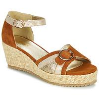 Sapatos Mulher Sandálias Sweet ESTERS Ouro / Camel