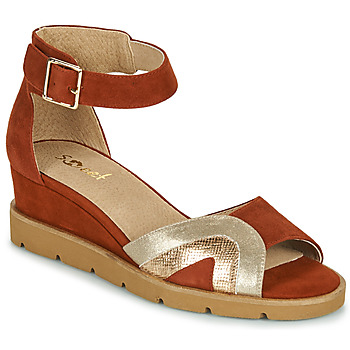 Sapatos Mulher Sandálias Sweet ETUVESS Bordô / Ouro