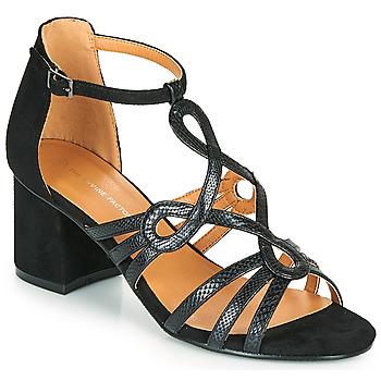 Sapatos Mulher Sandálias The Divine Factory QL4327 Preto