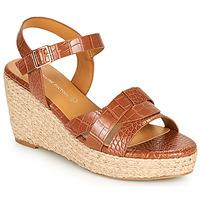 Sapatos Mulher Sandálias The Divine Factory QL4351 Camel