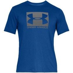Textil Homem T-Shirt mangas curtas Under Armour Boxed Sportstyle Azul