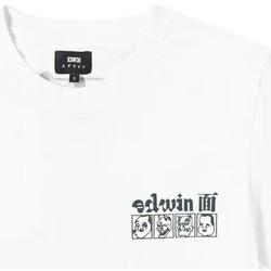 Textil Homem T-Shirt mangas curtas Edwin T-shirt  Hokusai Noh Masks blanc/noir