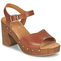 Sapatos Mulher Sandálias Unisa TACO Camel