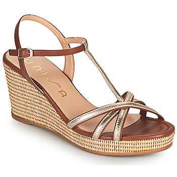 Sapatos Mulher Sandálias Unisa LLINAR Ouro