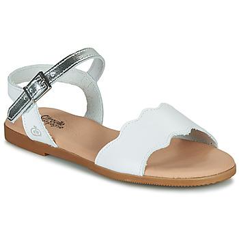 Sapatos Rapariga Sandálias Citrouille et Compagnie OBILO Branco
