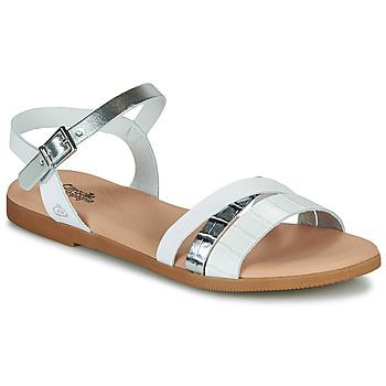 Sapatos Rapariga Sandálias Citrouille et Compagnie OBINOU Branco / Prateado