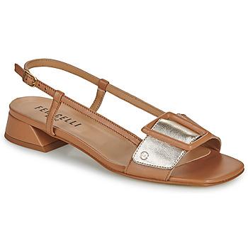 Sapatos Mulher Sandálias Fericelli PANILA Camel / Ouro