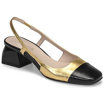 Sapatos Mulher Escarpim Fericelli TIBET Ouro / Preto