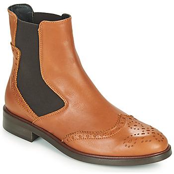 Sapatos Mulher Botas baixas Fericelli CRISTAL Camel