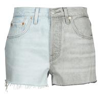 Textil Mulher Shorts / Bermudas Levi's ICE BLOCK Azul / Cinza