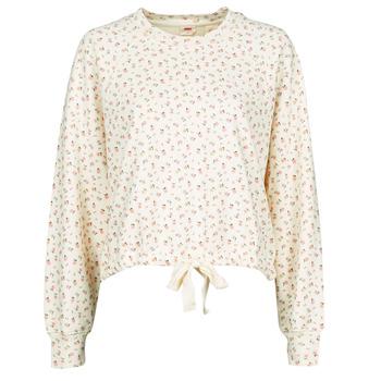 Textil Mulher Sweats Levi's CINCHED CREW SWEATSHIRT Bege