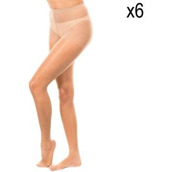 Roupa de interior Mulher Meia calça / Meias de liga Marie Claire Panty 15 deniers pack 6 ud. Bege