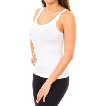Textil Mulher Tops sem mangas Marie Claire Camiseta tirante ancho sin costuras Branco